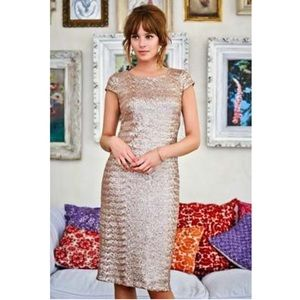 Long Tall Sally Champagne Sequin Shift Dress 10